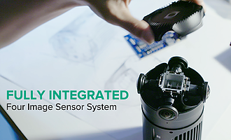 Fully Integrated Four Image Sensor System