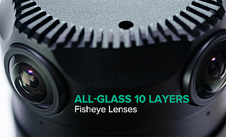 All Glass 10 Layers Fisheye Lenses